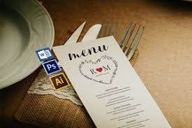 Wedding Menu Template Wedding Menu Template Wpc243 Invitation Templates Creative Market