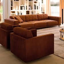 contemporary sofa leather 4 seater black palace rivolta
