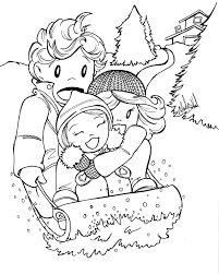 coloring pages winter fun kids winter coloring pages of