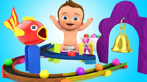 learn colors for children with baby wooden toy fish balls haba