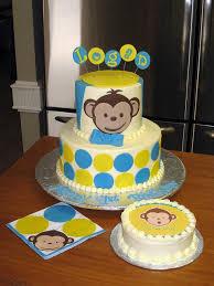 monkey themed 1st birthday cake second generation cake design
