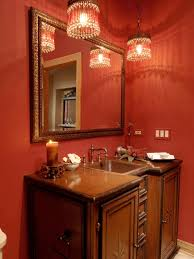 Victorian Bathroom Lighting Fixtures by Classy Floating Vanity With Red Gloss Wall Tile Also Modern Wall