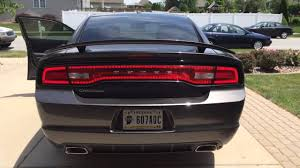 Sequential Taillights Turn Signals On 2013 Dodge Charger Youtube