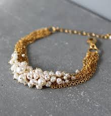 gold multi chain bracelet images Pearl and gold vermeil multi chain bracelet kate wood jewellery jpg