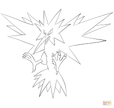 zapdos coloring page free printable coloring pages