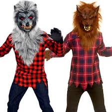 werewolf boys fancy dress halloween animal scary spooky kids