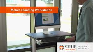 Computer Stand Up Desk by Mobile Standing Computer Workstation Stand Up Desk Store Youtube