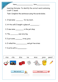 spelling hard or soft c sorting activity sen by colleenpearson