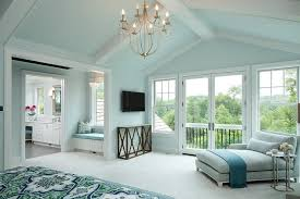 Draped Ceiling Bedroom Blue Master Bedroom With Gray Chaise Lounge And Marble Quatrefoil