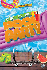pool party invitations free psd vector ai eps for and summer pool