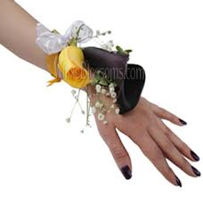 corsage flowers yellow wrist corsage flower