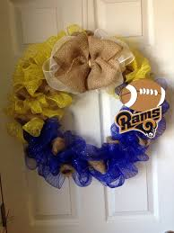 st louis rams wreath by agwreaths on etsy https www etsy com