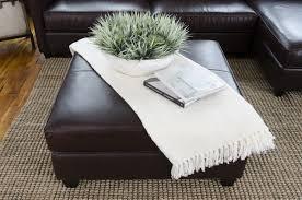 urban leather square ottoman u2013 elements fine home furnishings