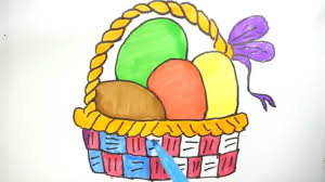how to draw easter stuff eggs in basket kids learn drawing eggs