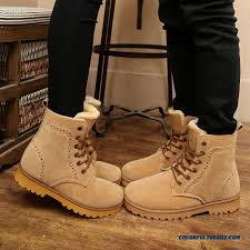 Comfortable Boots For Men Cheap Special Offer Winter Short Laced Black Men Boots Comfortable