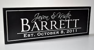 personalized wedding plaque personalized wedding sign family name sign plaque established