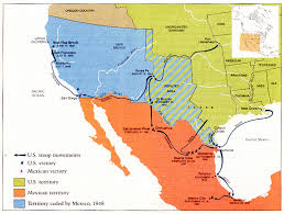 map of the mexico mexican war maps