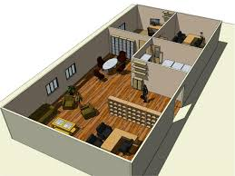 floor plan isometric back top view