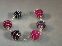 make bracelet from beads images Wirework bracelet tutorial how to make wire caged beads jpg