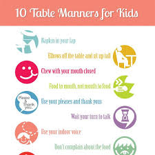 table manners teaching kids manners 10 table manners printable table manners