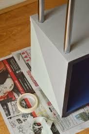 modern shelf makeover with rust oleum