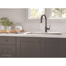 delta faucet 9159 bl dst trinsic matte black pullout spray kitchen