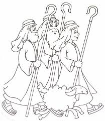 shepherds printable coloring pages shepherds