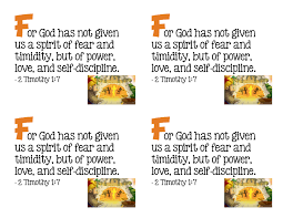 f for god has not given us a spirit of fear and timidity but of