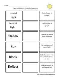 light and shadows lesson plans this is a free mini book on light and shadow the full unit is for