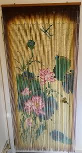 70s Beaded Door Curtains Waterlily Hanging Beaded Doorway Curtain 70s Boho Style R M