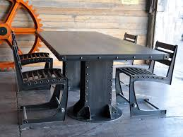 industrial kitchen table furniture i beam dining table industrial beams and industrial