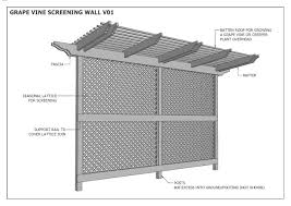 grape vine wall lattice wall outdoor privacy screening wall