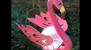 pink flamingo patio lights lovely pink yard flamingos garden stake solar crackle glass ball