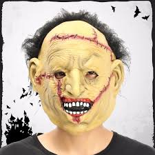 halloween horror mask halloween party props with hair mask costume