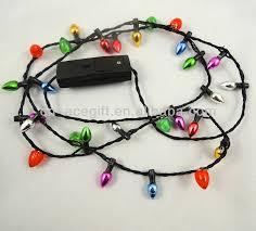 christmas light necklace light up christmas light necklace christmas lights card and decore