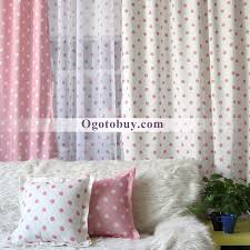Cheap Cute Curtains White Pink Dot Cute Decorative Yarn Bedroom Curtains Buy Pink