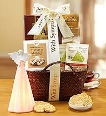 sympathy basket moments of reflection basket with angel light moments of