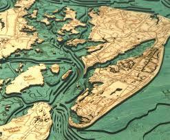 Map Of Hilton Head Sc Hilton Head South Carolina Wood Chart Wooden Map Nautical