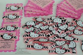handmade hello kitty zebra pink birthday invitations jingvitations