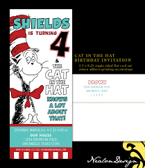 graphic design birthday invitations nealon design cat in the hat birthday invitation