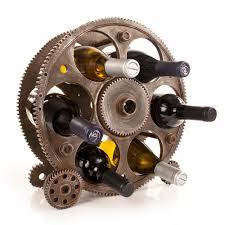 gears u0026 wheels 6 bottle wine rack foster u0026 rye by true fabrications