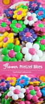 super colorful flower pretzel bites bite size pretzels and super easy