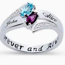 rings with birthstones and names three wave ring promise rings and third