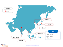 Blank Map Of Europe And Asia by Free Asia Editable Map Free Powerpoint Templates