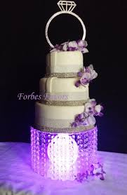 acrylic cake stands acrylic cake stand with center orb with led lights 2563455 weddbook