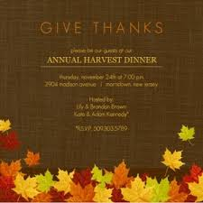 thanksgiving invitation wording template best template collection