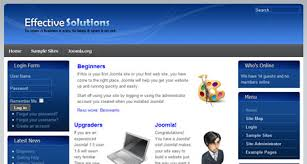 templates free joomla blue business solutions joomla 1 6 template