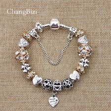 pandora bracelet gift images Yilianfei silver plated female bracelet with flower pendant charms jpg