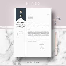 Professional Teacher Resume Template Teacher Resume Template Archives Hired Design Studio