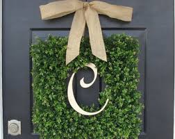 monogram wreath etsy